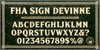 FHA Sign DeVinneNC Font text poster