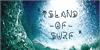 Surfing  of waves Font handwriting water