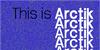 Arctik Font screenshot design