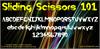 Sliding Scissors 101 Font poster screenshot