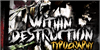 within destruction Font poster text