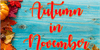 Autumn in November Font text book