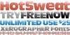 HotSweat Font design illustration