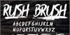 Rush Brush Font text typography