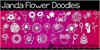 Janda Flower Doodles Font design flower