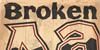Broken Poster Font poster drawing