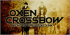 Oxen Crossbow Font poster book