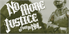 No More Justice Font poster clothing