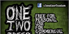 CF One Two Trees Font cartoon poster