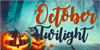 October Twilight Font cartoon poster
