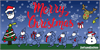Merry Christmas Font cartoon illustration