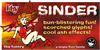 Sinder Font cartoon poster