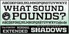 WHAT SOUND POUNDS? Font text poster