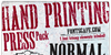 Hand Printing Press Meshed_demo Font text poster