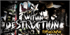within destruction Font poster painting