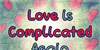 Love Is Complicated Again Font text book