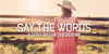 Say the Words Font hat fashion accessory
