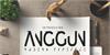 Anggun Sans Font design poster