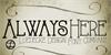 AlwaysHere Font design poster