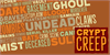 CryptCreep BB Font poster text