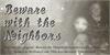 BewareTheNeighboors Shadow Font text handwriting