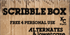 Scribble Box Font text poster