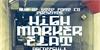 High Marker Flat Font building poster