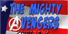 The Mighty Avengers Font poster cartoon