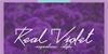 Real Violet Demo Font text flower