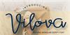 Vilova Font handwriting