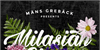 Milasian Circa Thin PERSONAL Font flower plant
