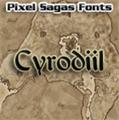 Illustration of font Cyrodiil