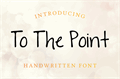 Illustration of font To The Point