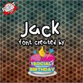 Illustration of font Jack