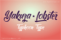 Illustration of font Yakuza Lobster