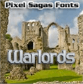 Illustration of font Warlords