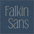 Illustration of font Falkin Sans PERSONAL