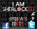 Illustration of font I AM SHERLOCKED