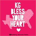 Illustration of font KG BLESS YOUR HEART