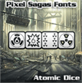 Illustration of font Atomic Dice