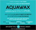 Illustration of font Aquawax
