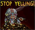 Illustration of font Stop Yelling