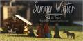 Illustration of font Sunny Winter