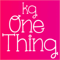Illustration of font KG One Thing