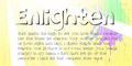 Illustration of font Enlighten