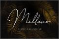 Illustration of font Millano