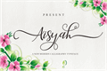 Illustration of font Aisyah