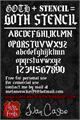 Illustration of font Goth Stencil
