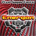 Illustration of font Energon