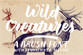 Illustration of font Wild Creatures Sample